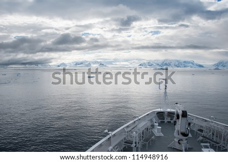 Antarctic seascape from the cruise ship