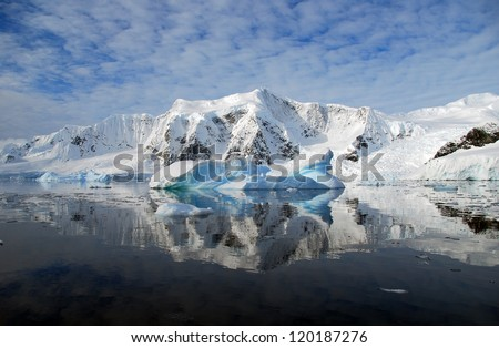 antarctic snowy mountains
