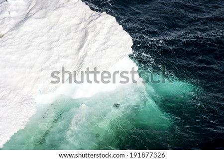 Antarctica - Antarctic Peninsula - Climate Change - Global Warming - Pieces Of Floating Ice / Antarctica - Pieces Of Floating Ice  - stock photo