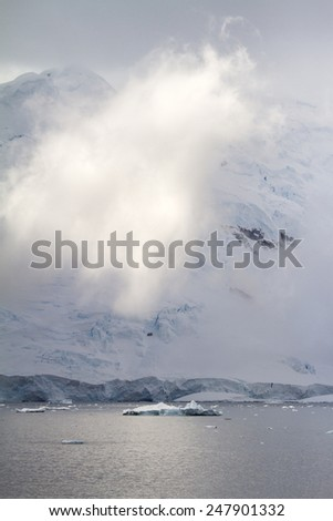 Antarctica - Dramatic Landscape - Coastline Of Antarctica With Ice Formations /  - stock photo