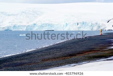 antarctica landscape background view - stock photo