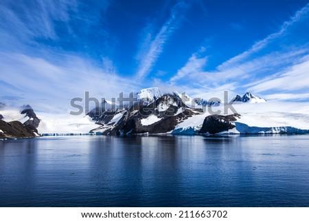 Antarctica Outstanding landscape. - stock photo