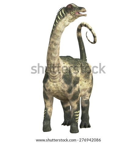 Antarctosaurus over White - Antarctosaurus was a titanosaur sauropod that lived in South America in the Cretaceous Period. - stock photo