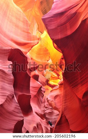 Antelope Canyon in the Navajo Reservation near Page, Arizona USA