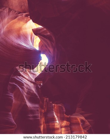 Antelope Canyon in USA - stock photo