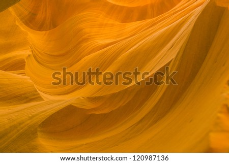 Antelopes Canyon near page, the world famous slot canyon in the Antelope Canyon Navajo Tribal Park - stock photo