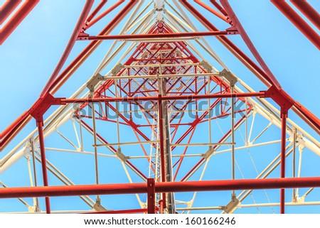 Antenna broadcast TV signal. - stock photo