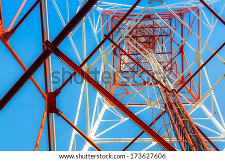 Antenna broadcast TV signal. - stock photo