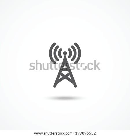 Antenna icon - stock photo