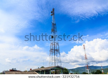 Antenna Tower. - stock photo