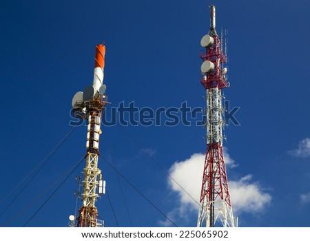 Antenna towers - stock photo
