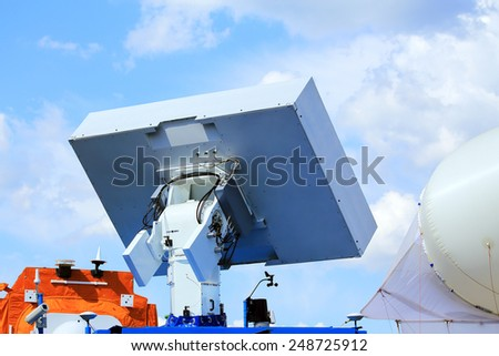 Antenna with the suppression of surface waves with the structure of the material belonging to another class - stock photo