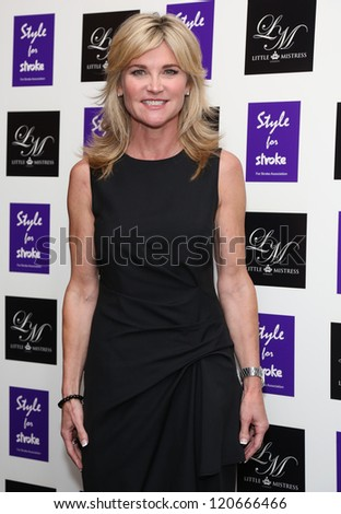 Anthea Turner arriving for the Style for Stroke Party, 5 Cavendish Square, London. 02/10/2012 Picture by: Henry Harris