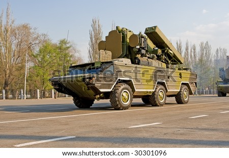 "Anti-aircraft missile system ""Osa"" - stock photo"