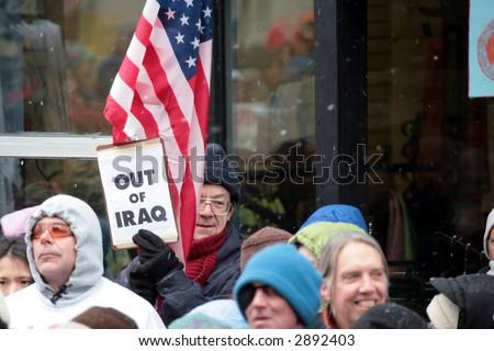 Anti Iraq War Protest, Ithaca, New York - stock photo