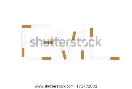 Anti tobacco banner isolated on white. - stock photo