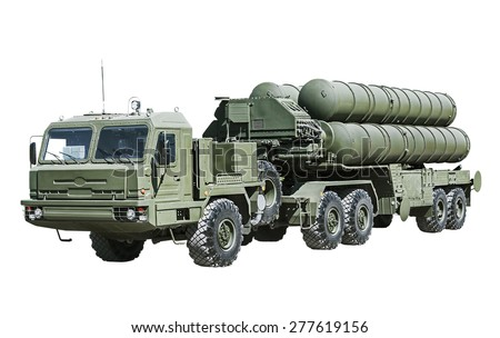 antiaircraft missile system (AAMS) large and medium-range - stock photo