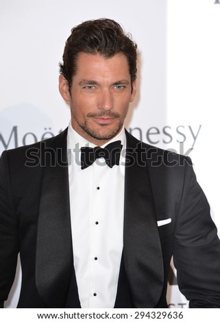 ANTIBES, FRANCE - MAY 21, 2015: David Gandy at the 2015 amfAR Cinema Against AIDS gala at the Hotel du Cap d'Antibes, as part of the 68th Festival de Cannes. - stock photo