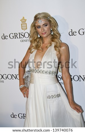 ANTIBES, FRANCE - MAY 21:  Paris Hilton attends the de Grisogono Party during the 66th International Cannes Film Festival at Hotel Du Cap on May 21, 2013 in Antibes, France. - stock photo