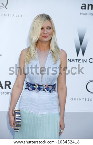 ANTIBES - MAY 24: Kirsten Dunst at the 2012 amfAR's Cinema Against AIDS at Hotel Du Cap on May 24, 2012 in Antibes, France - stock photo
