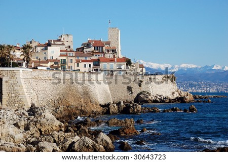 Antibes, old town, French Riviera - stock photo