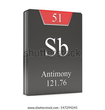 Antimony sb 51 periodic table stock illustration 147294245 antimony sb 51 from periodic table urtaz Image collections