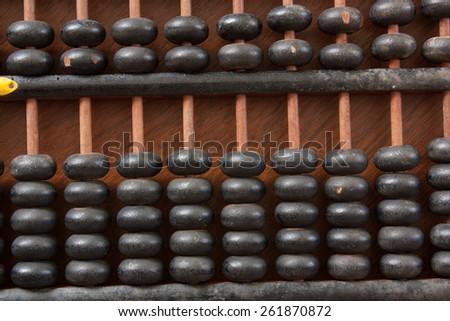 Antique abacus - stock photo
