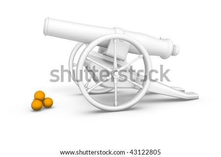 Antique artillery cannon