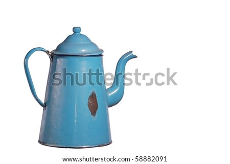 Antique Blue Kettle