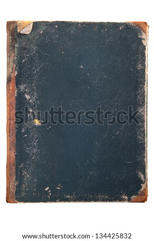 antique book cover isolated on white background - stock photo