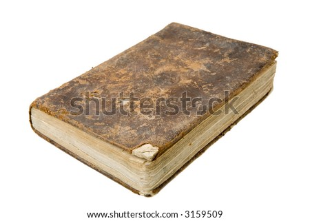 Antique book isolated on a white background - stock photo