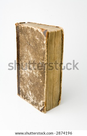 Antique book on a white background - stock photo