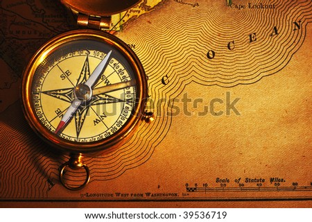 Old World Compass Stock Photos RoyaltyFree Images Vectors - Old us map background