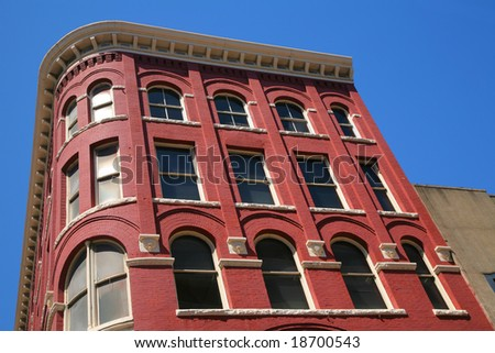 Antique Brick Building(Release Information: Editorial Use Only. Use of this image in advertising or for promotional purposes is prohibited.) - stock photo
