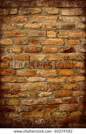 Antique Brick wall with dark frame