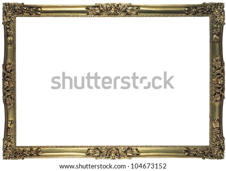 antique bronze frame for a picture isolated - stock photo