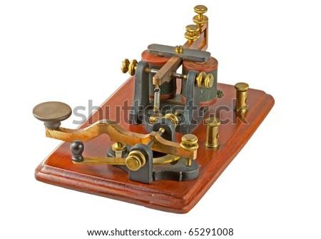 "Antique ""Camelback"" Morse Key - stock photo"