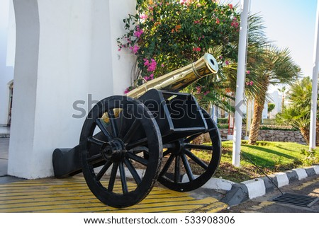 antique cannon metalic gun vintage historical very old