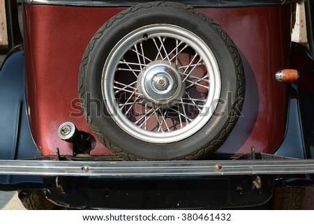 Antique car parts - stock photo