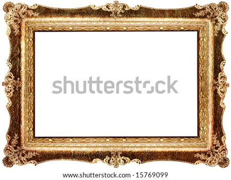 antique carved frame - stock photo