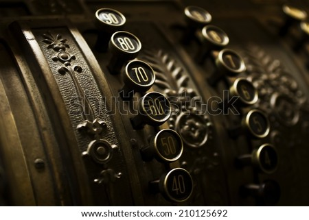 Antique cash register - stock photo