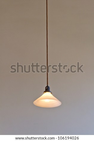 antique ceiling lamps in modern Japanese architecture - stock photo