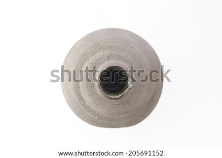 Antique ceramic jar (Top view) - stock photo