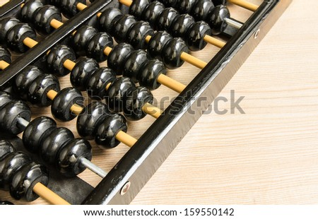 Antique Chinese abacus  - stock photo