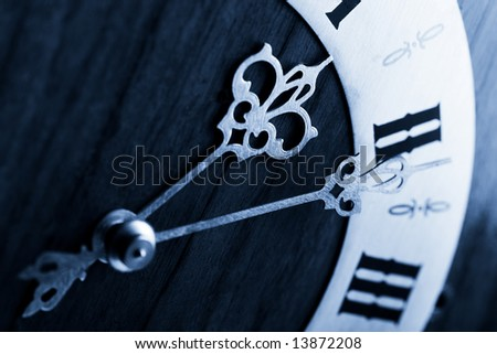 antique clock dial with Arabic numerals - stock photo