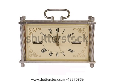 antique clock isolated on white  background