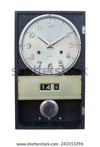antique clocks, vintage and retro design - stock photo