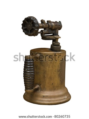 Antique Copper Blow Torch - stock photo