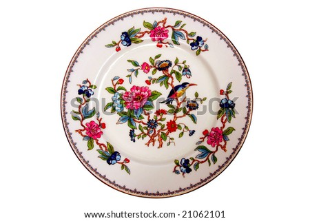 Antique dinner plate.