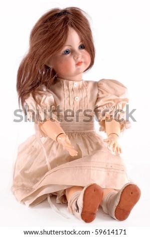 Antique Doll - stock photo
